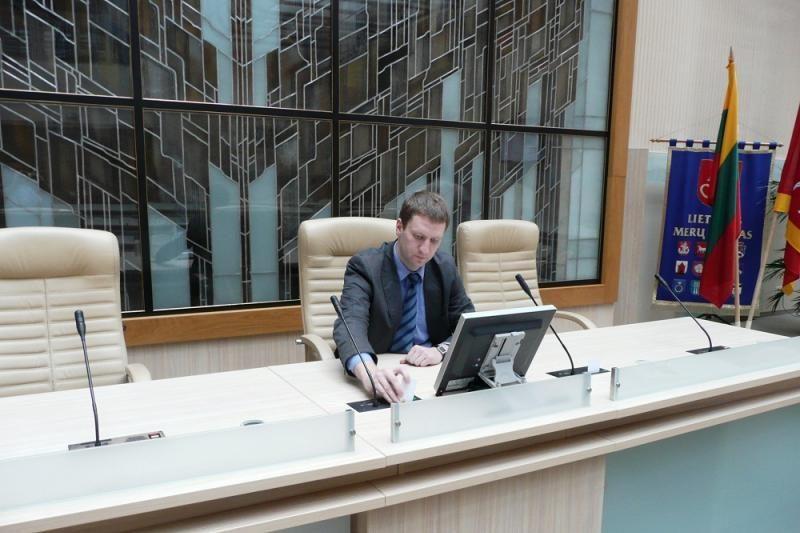 Savivaldybėje išbandyta naujoji balsavimo sistema