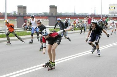 Kviečia antrasis Kauno riedučių maratonas