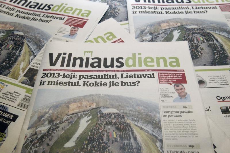 """Nuo ketvirtadienio """"Vilniaus diena"""" tapo savaitraščiu"""