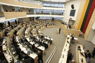 Prasidėsiančioje Seimo sesijoje – neišspręsti klausimai