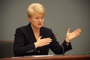 D.Grybauskaitė žada imtis tiek atsakomybės, kiek paneš