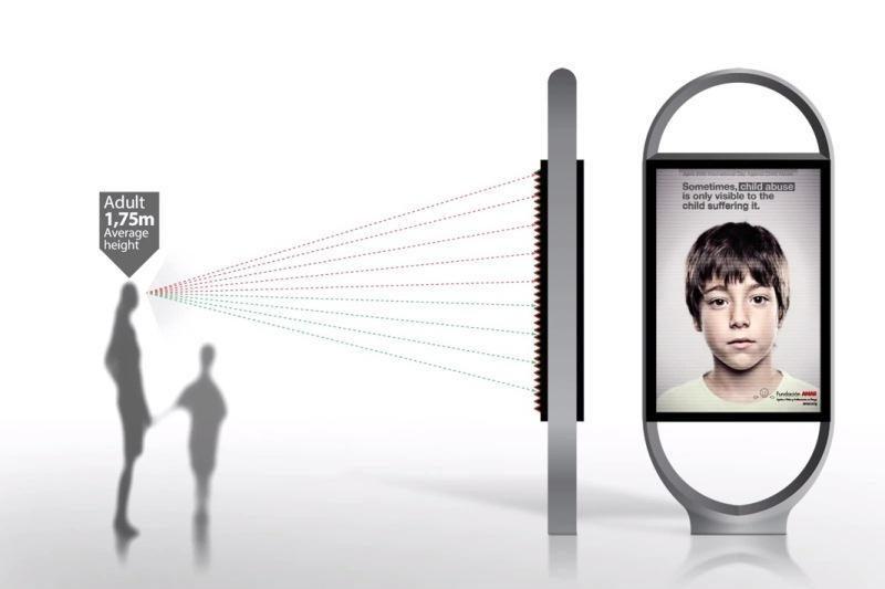 Socialinės reklamos plakate - slapta žinutė vaikams