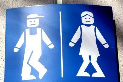 Ant vyrų tualeto durų - bananas
