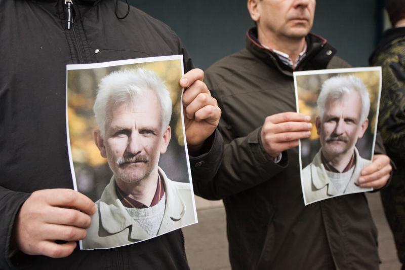 Baltarusijos aktyvisto A.Beliackio žmona: apie jo būklę belangėje tylu