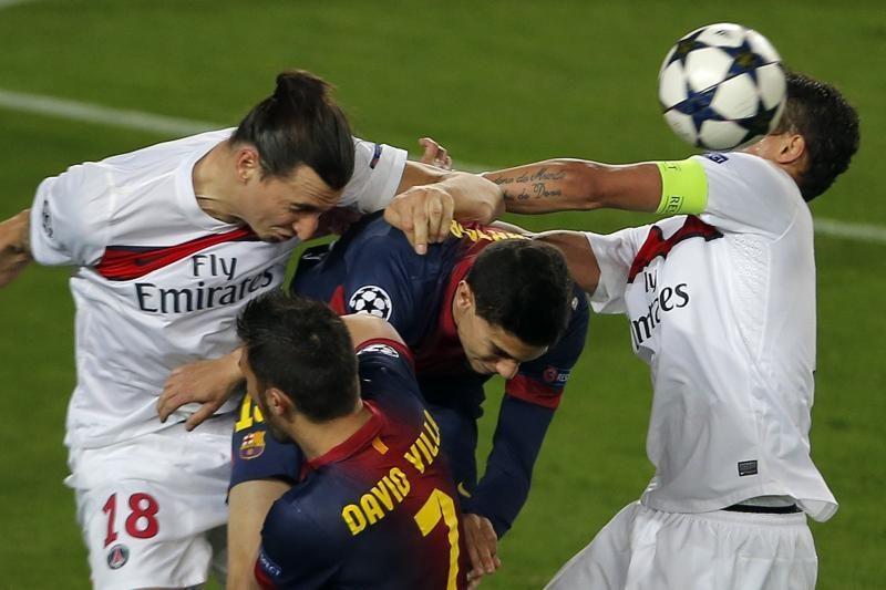 """Čempionų lyga: """"Barcelona"""" ir vėl neįveikė PSG, tačiau žengė tolyn"""