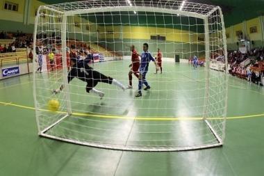 Salės futbolo A lygos lyderiai suklupo Vilniuje