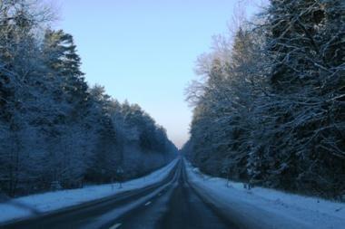 Eismo sąlygos geros, rajoniniuose keliuose - slidu (atnaujinta)