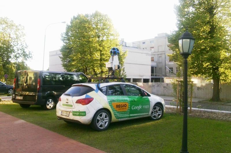 """Uostamiestyje užfiksuotas """"Google"""" automobilis"""