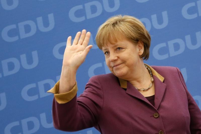 A. Merkel: euras reiškia ir taikos sąjungą