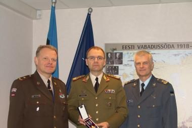 Lietuvos karinininkui - garbingas estų apdovanojimas