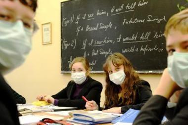Dėl gripo tuštėja universitetų auditorijos