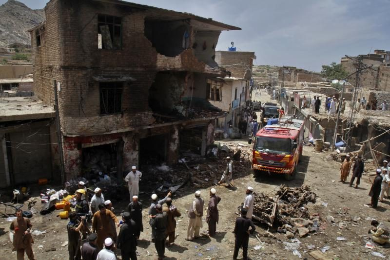 Pakistano šiaurės vakaruose per sprogimą žuvo devyni žmonės