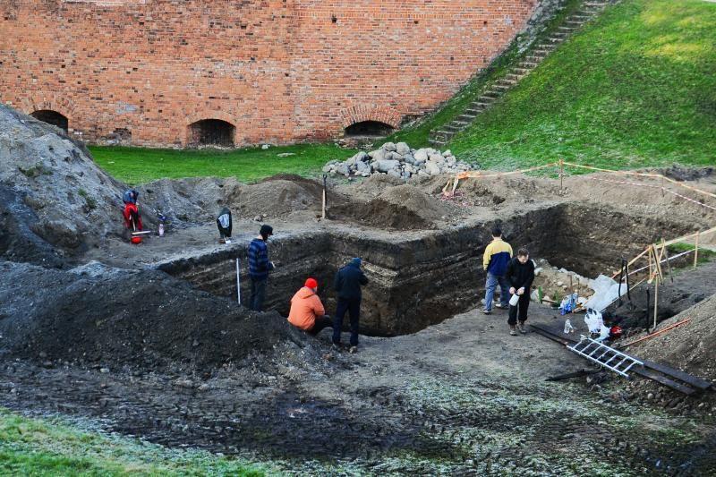 Kauno pilies bastėją nuo potvynio saugojo medinis įrenginys