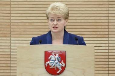 D.Grybauskaitė: metinis pranešimas buvo skirtas žmonėms, ne politologams