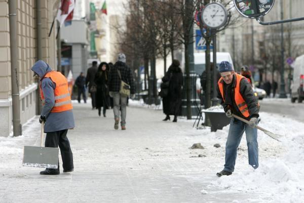 Vilniaus šaligatviai ketvirtadienį vakare taps pavojingi