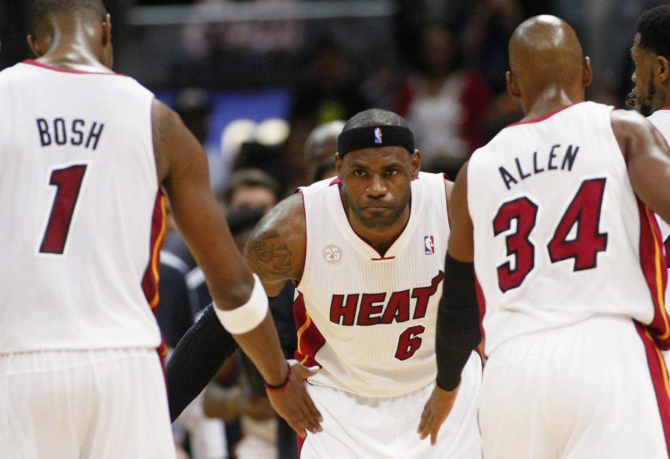 """Rytų konferencijos lyderių dvikovoje - """"Heat"""" pergalė (Top10)"""