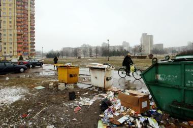 Atliekų išvežimo kainą siūloma susieti su buto plotu (papildyta)