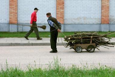 Kauno rajono vienišus gyventojus jau pasiekė malkos