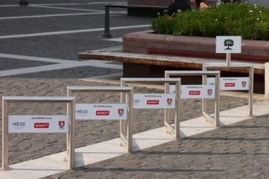 Vilniuje įrengta daugiau nei 200 nemokamų dviračių stovėjimo vietų