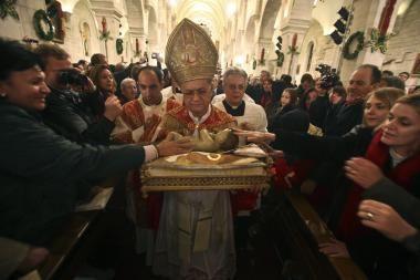 Betliejų per Kalėdas užplūdo rekordinės maldininkų minios