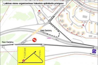 Pasikeitė transporto eismas Erfurto ir Oslo gatvių žiedinėje sankryžoje