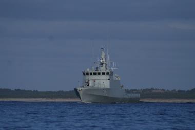 Lietuvos laivas dalyvaus karinėse pratybose Danijoje
