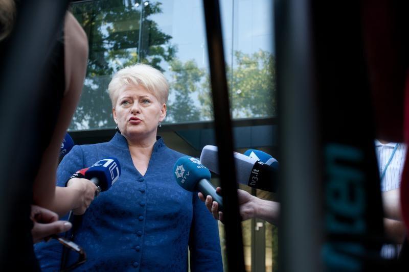 """Prezidentė: """"Gazprom"""" kainų politika Rusija kenkia pati sau"""