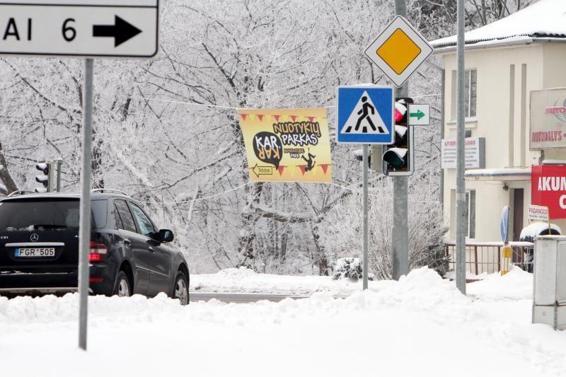 Reklama nuotykių parke Klaipėdoje - be leidimo