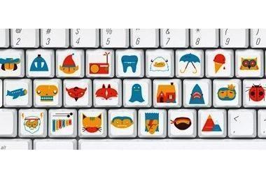 Klaviatūros paveiksliukai mokys skaityti