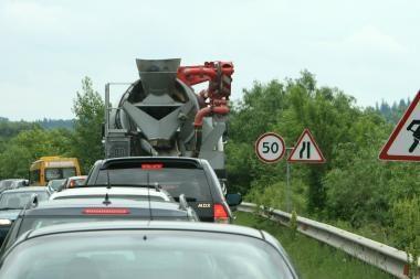 Bus rekonstruota dalis kelio Kaunas-Zarasai-Daugpilis