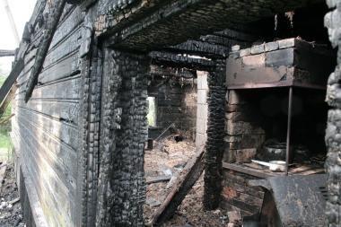 Lauko virtuvėje sudegė du žmonės