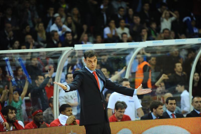 """""""Olympiakos"""" treneris: M. Gecevičus turi problemų gynyboje"""