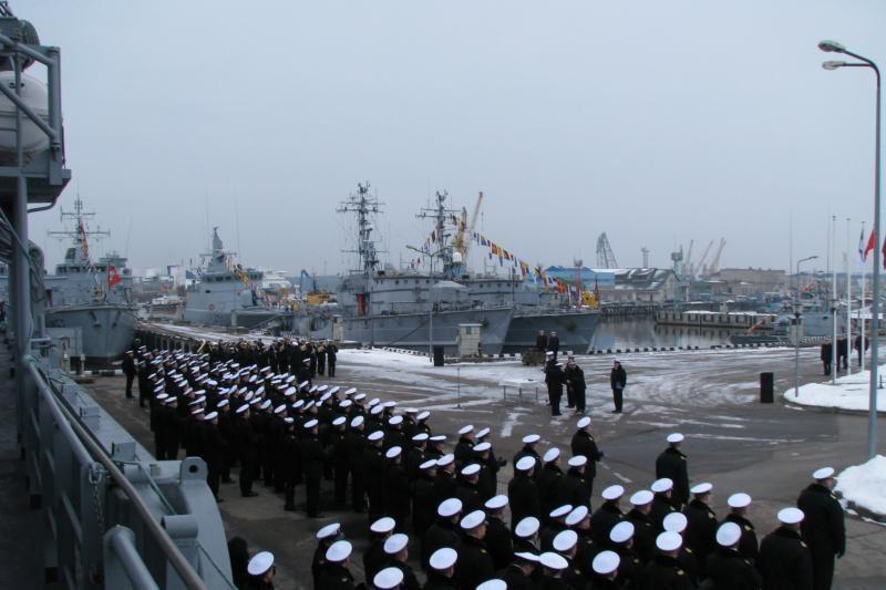 Karinės jūrų pajėgos paminėjo Lietuvos valstybės atkūrimo dieną (foto)