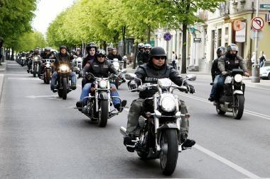 Motociklininkai nori važinėti po Klaipėdos centrą