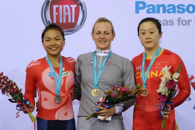 Pasaulio dviračių taurės varžybose S.Krupeckaitė iškovojo auksą
