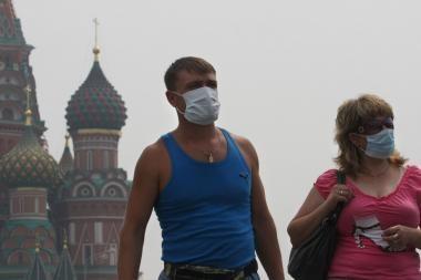 Maskvą alina neregėti karščiai, tvyro stiprus smogas