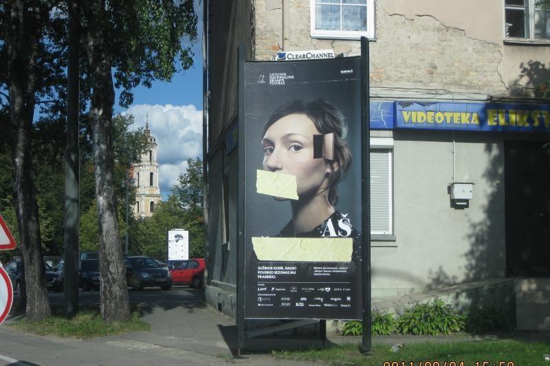 Vilniuje uždrausta savivaldybės leidimo negavusi reklama