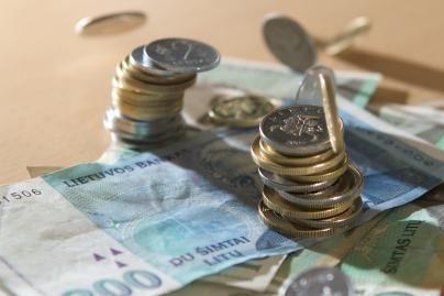 Biudžete mažiau pajamų nei planuota