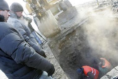 Šalčio sukaustytas Kaunas nesubyrėjo