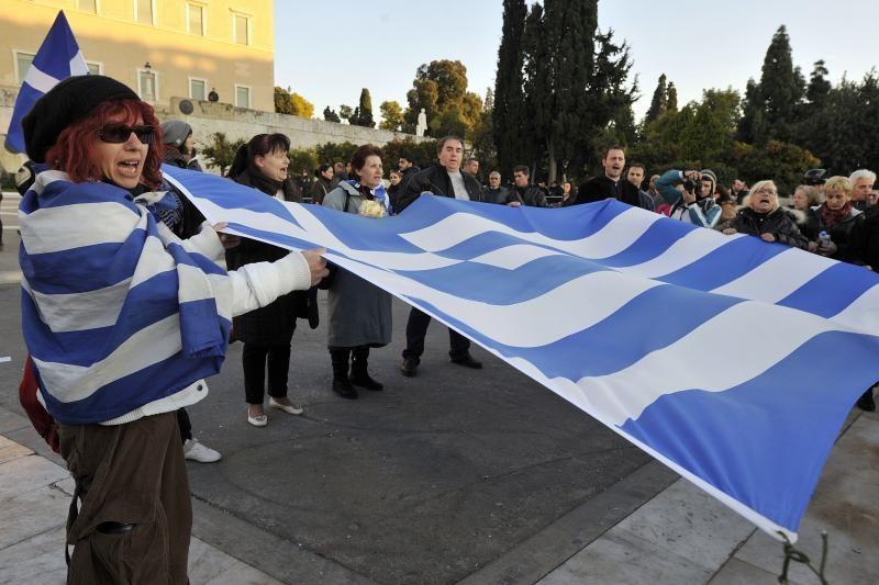 Graikijos policija pateko po padidinamuoju stiklu