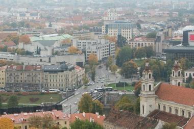 Vilnius išskaidytas į atskiras dalis