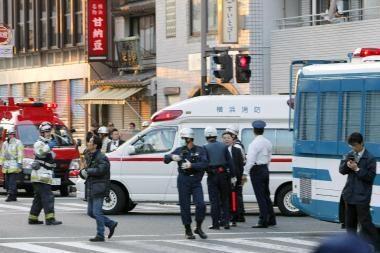 Išpuolis Japonijoje: vyras sužeidė tris žmones ir nusišovė