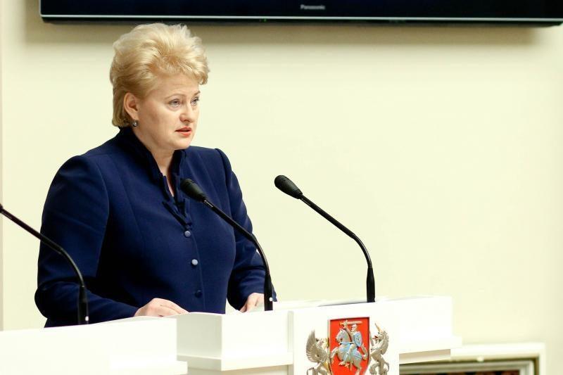 Prezidentė: be Klaipėdos krašto būtume mažesnė ir silpnesnė valstybė