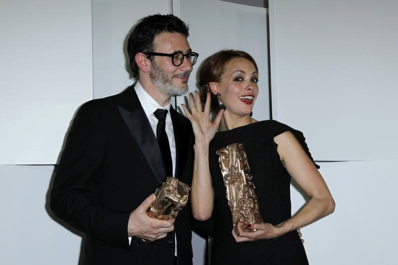 """Filmas """"Artistas"""" triumfavo """"Cezarių"""" apdovanojimų ceremonijoje"""
