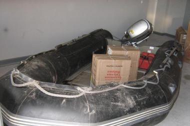 Sulaikytas stambus kontrabandinių rūkalų krovinys