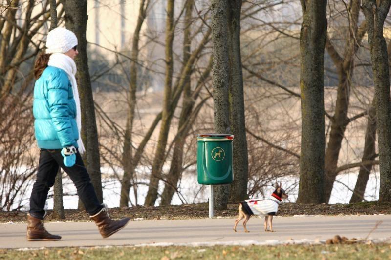 Šunų išmatoms skirtos šiukšliadėžės dar netapo vandalų taikiniu