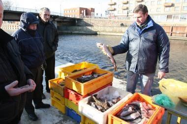 Žvejai žuvimi prekiaus trijose vietose