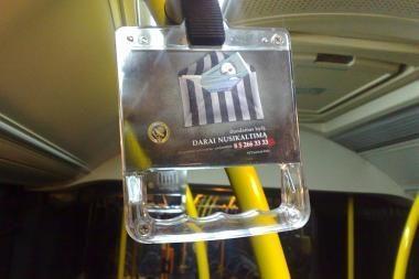 Sostinės autobusuose – socialinė akcija prieš korupciją