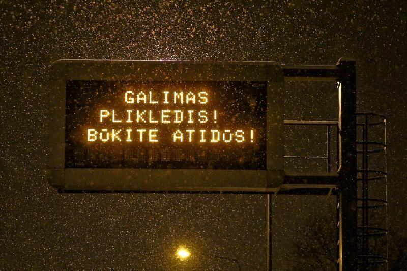 Naktį Lietuvoje - be kritulių, daug kur plikledis
