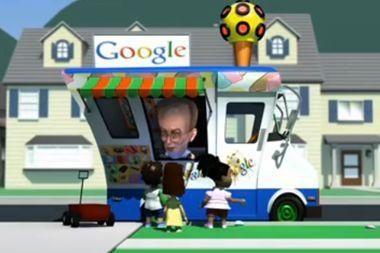 """Antausis """"Googlui"""" – animacinė parodija"""